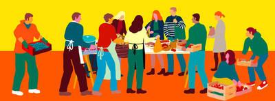 Eröffnung: Erzeuger-Verbraucher Kiezbauernmarkt in der Willn...