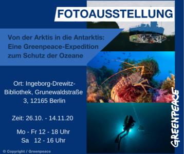 """Fotoausstellung zur ,,Pol zu Pol""""-Tour von Greenpeace (..."""