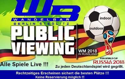 Public Viewing der Fußball WM 2018 draußen und drinnen