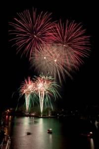 Feuerwerk auf Spandauer Havelfest