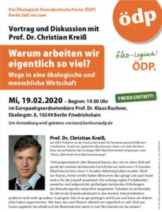 """Vortrag und Disskusion zum Thema """"Warum arbeiten wir ei..."""
