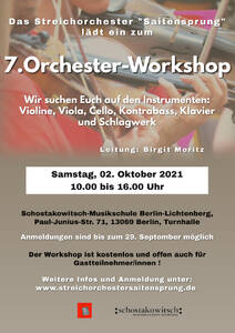 7. Orchester-Workshop Streichorchester Saitensprung