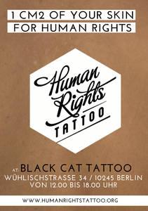 Human Rights Tattoo 1 cm2 Deiner Haut für die Menschenrechte