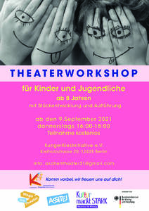 Kostenloser Theaterworkshop für Kinder in Treptow (ab 8)
