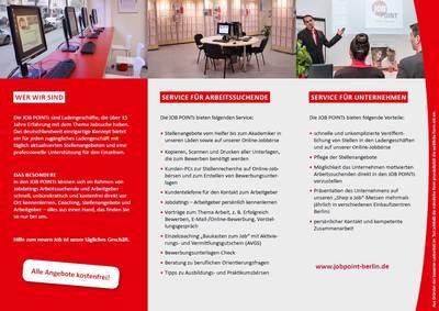 Angebote und Service im JOB POINT Berlin-Neukölln