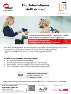 Jobdating mit Solid Personalservice GmbH