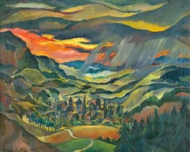 Franz Heckendorf, Stadt im Gebirge, 1919
