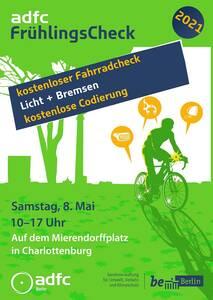kostenloser ADFC Fahrrad-Check Mierendorffplatz