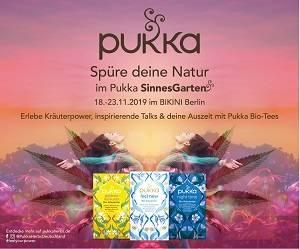 Grüne Oase im Shoppingstress: der Pukka SinnesGarten im BIKI...