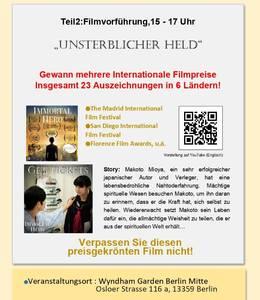 Filmvorführung(Deutschlandpremiere), und Seminar