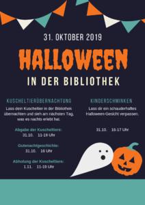 Halloween mit Kuscheltierübernachtung und Kinderschminken in...