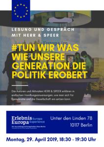 Lesung und Gespräch mit Herr & Speer im Erlebnis Europa