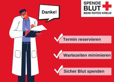 Kiezhilfe in Rot: DRK-Blutspendedienst und Schönhauser Allee...
