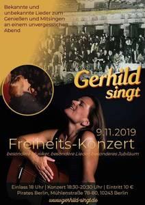 Gerhild singt : Konzert zum Mauerfall im Pirates Berlin