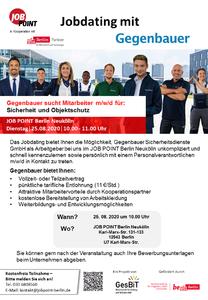 Jobdating mit Gegenbauer Sicherheitsdienste GmbH