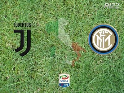 Derby d`Italia Juve - Inter on big screen in Kreuzberg, Berl...