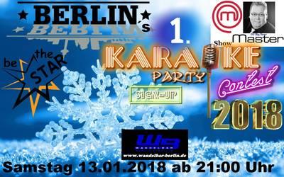 Karaoke Contest die erste Berliner Party in 2018
