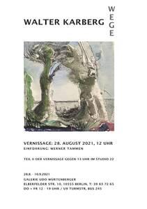 Doppel-Vernissage: Walter Karberg. Wege. Aquarelle