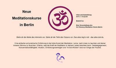 Neue Meditationskurse in Berlin