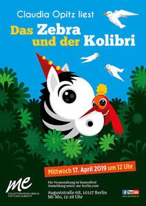 """Kinderlesung """"Das Zebra und der Kolibri"""" mit Claudia Opitz u..."""