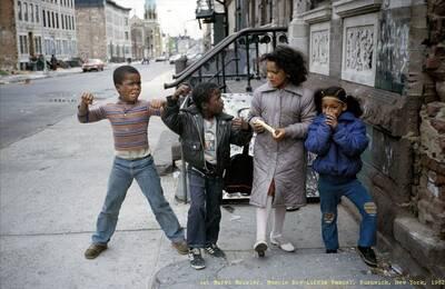 (c) Meryl Meisler, Muscle Boy Little Rascal, Bushwick, New York, 1982