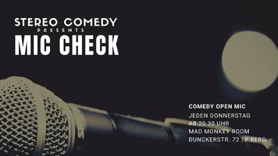 """Stereo Comedy prästentiert """"Mic Check"""" - Stand up ..."""