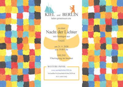 Nacht der Lichter Kiel und Berlin, 21.11.2020, 19:00 Uhr, online