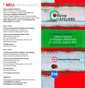 Offenes Atelier in Stahnsdorf - Angelika Hoffmann 2021
