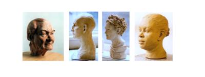 Köpfe und Portraits aus Ton modellieren, zeichnen und Museum...