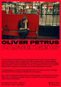 FINISSAGE: OLIVER PETRUS - PASSENGERS (Ausstellung)