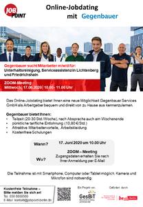 OnlineJobdating mit Gegenbauer Services GmbH