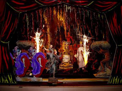 Papiertheater: Orpheus in der Unterwelt