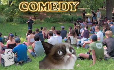 Park Show *Stand Up Comedy* in der Hasenheide ENGLISH 4PM