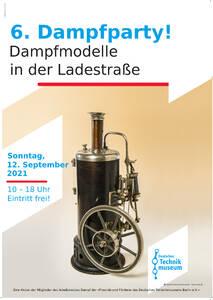 Plakat 6. Dampfparty 2021.