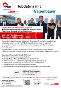 Jobdating mit Gegenbauer Property Services GmbH