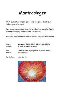 Mantrasingen auf Spendenbasis in B-Friedrichshagen