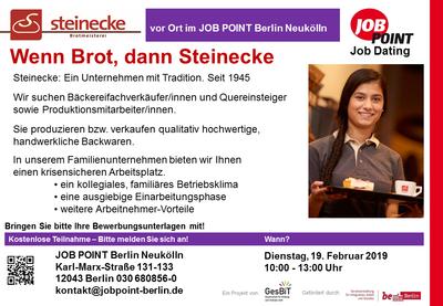Jobdating mit Meisterbäckerei Steinecke GmbH