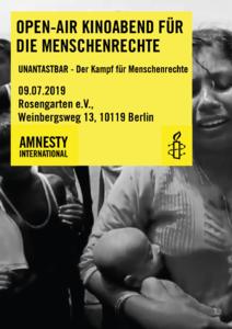 Open-Air-Kinoabend für die Menschenrechte