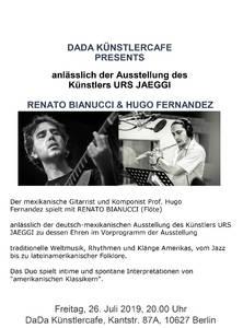 Hugo Fernandez, Gitarre + Renato Bianucci, Flöte
