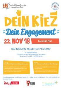 Dein Kiez. Dein Engagement. Kiez-Talk & Info-Abend zum f...