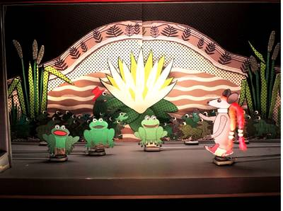 Papiertheater: Das Rübchen und der Mondfrosch