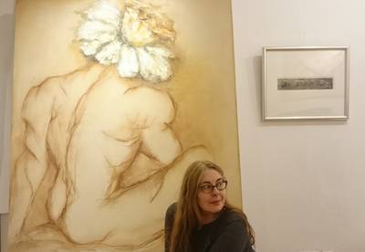 Rita Kashap Gemälde Narziss Öl Leinwand