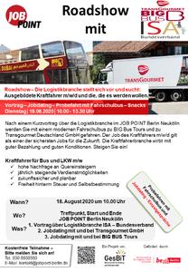 Kraftfahrer-Roadshow mit BIG Bus, Transgourmet und ISA-Bunde...