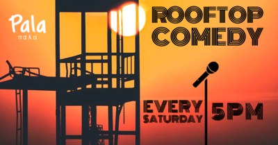 Rooftop Comedy - Outdoor Stand Up Comedy, upstairs.