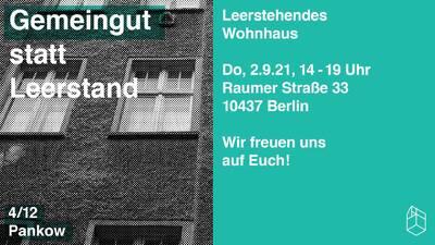 Gemeingut statt Leerstand - Leerstehendes Wohnhaus, Raumer S...