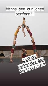 Zeitgenössische Akrobatik Performance