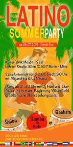 Latino-Sommer-Party mit Salsa & Bachata & Samba (Liv...