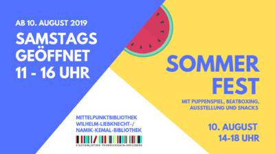 Sommerfest im Lesegarten