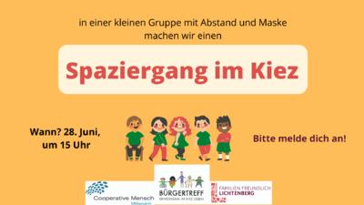 Kiez-Spaziergang in der Gruppe in Alt-Hohenschönhausen