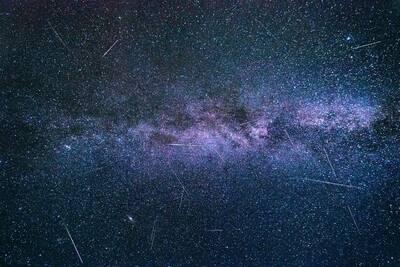 Sternschnuppen Nacht